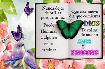 Dios te colme de bendiciones, Buenos Días - Frases en imágenes