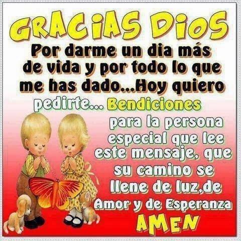 Frase cristiana, Oración, Gracias Dios