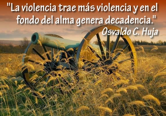 La violencia trae más violencia y en el fondo del ama genera decadencia.