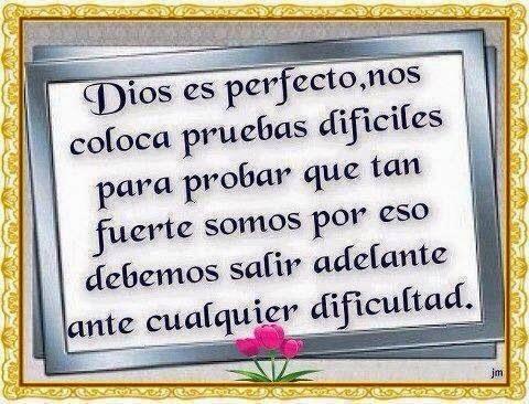 Imagen cristiana, Dios, perfecto, pruebas, fuerte, salir, dificultad.