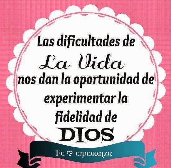 Imagen cristiana, dificultades, vida, oportunidad, experimentar, fidelidad, Dios.