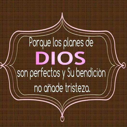 Por que los planes de Dios son perfectos y su bendición no añade tristeza.