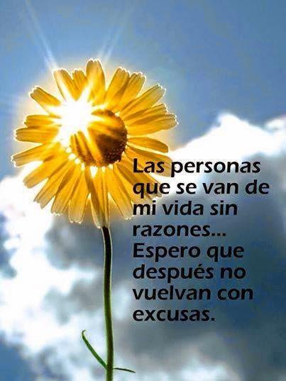 Frases de reflexión, personas, vida, razones, vuelvan, excusas.