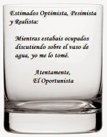 Frases de reflexión, optimista, pesimista, realista, discutiendo, oportunista.