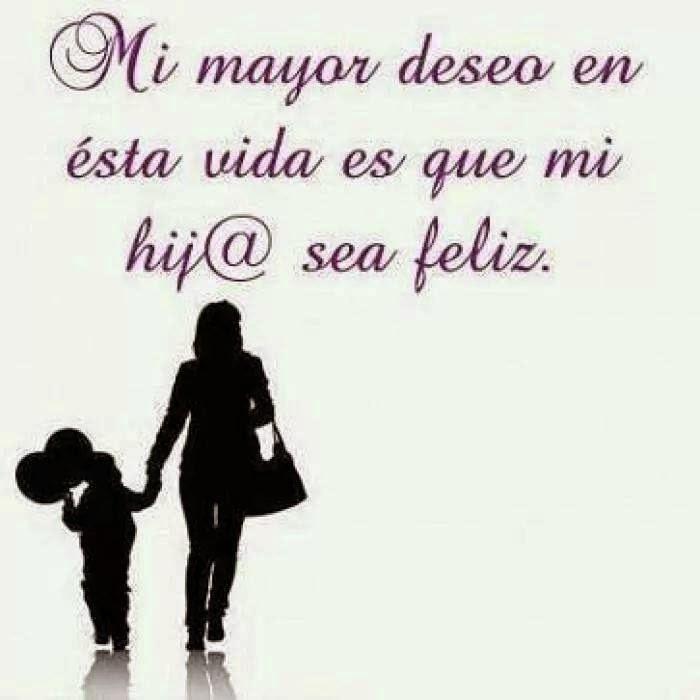 Frases positivas, mayor, deseo, vida, hija, feliz.