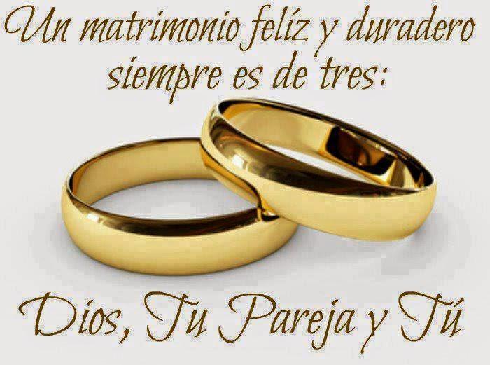 Frases de reflexión, matrimonio, feliz, duradero, Dios, pareja.