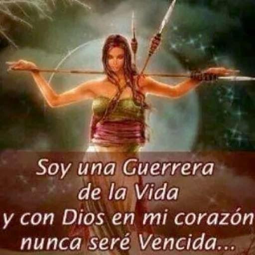 Soy una guerrera de la vida y con Dios en mi corazón nunca seré vencida.