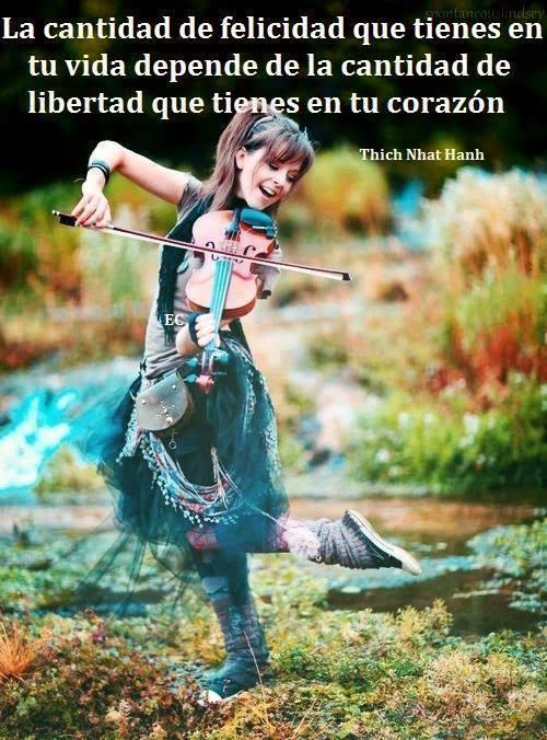 La cantidad de felicidad que tienes en tu vida depende de la cantidad de libertad que tienes en tu corazón.