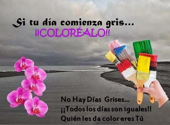 Si Tu Día Comienza Gris Coloréalo Mis Frases Para Ti
