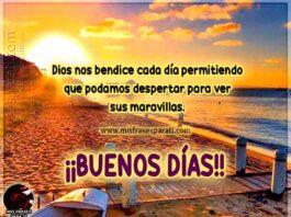 Dios nos bendice cada día permitiendo que podamos despertar para ver sus maravillas. ¡¡Buenos días!!