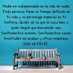 Nadie es indispensable en la vida de nadie - Frases de la vida