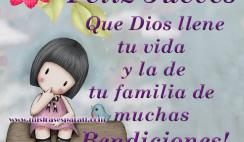 Que Dios llene tu vida de bendiciones, Feliz Jueves